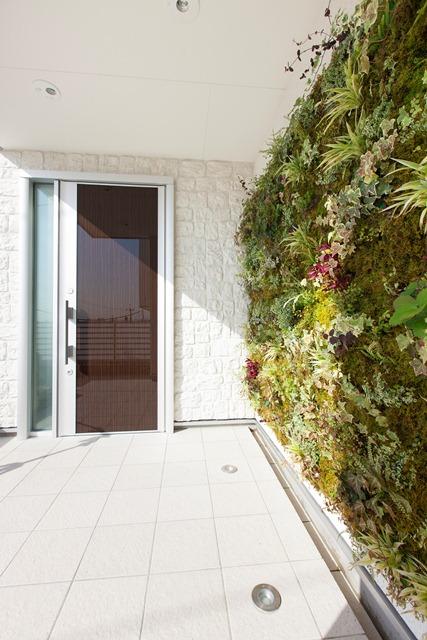 【施工例】住宅向け 壁面緑化